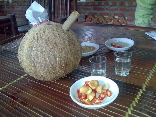 The special coconut wine