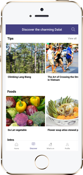 Da Lat Guide App on iPhone