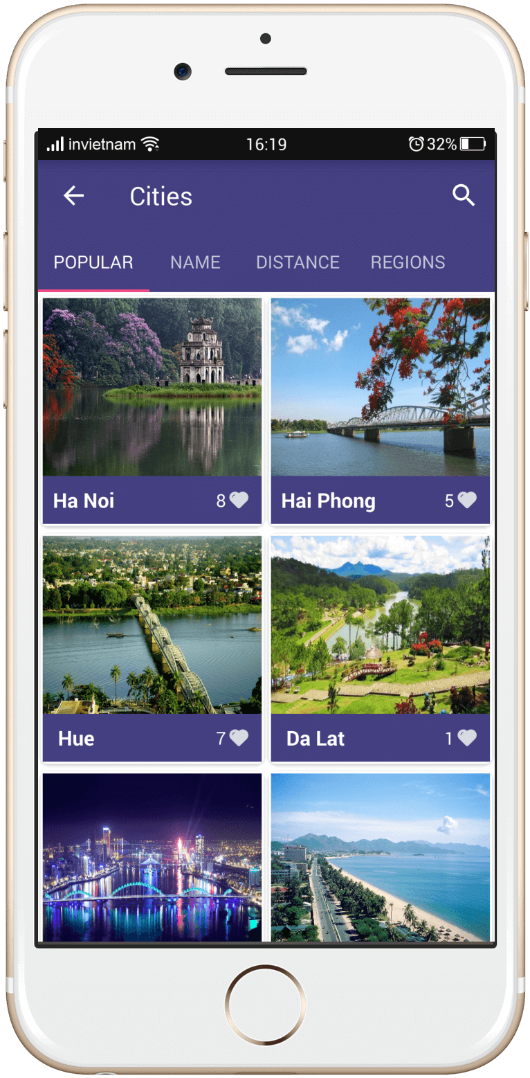 inVietnam App on iPhone