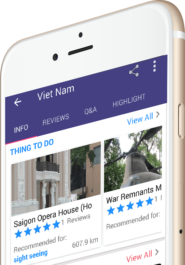 Ninh Binh Guide App on iPhone